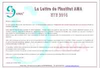 NEWSLETTER Eté 2015