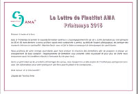 NEWSLETTER Printemps 2015