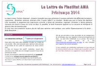 NEWSLETTER Printemps 2014